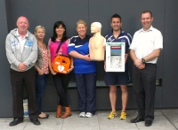 Staff at the Gloucester Street Sports Centre, Dublin, Receiving their new Public Access Defibrillator and Training from EireMed