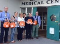 GP's and Nursing Staff at Skibbereen Medical Centre receiving 6 IPAD AEDs from EireMed. The IPAD Defibrillators will be carried by the Skibbereen GP's in their Cars to increase survival rates of persons suffering out of hospital Cardiac Arrest in West Cork.